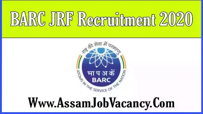 BARC JRF Recruitment 2020 - Apply for Junior Research Fellowship Post