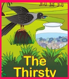 Moral of thirsty crow story | bedime stories