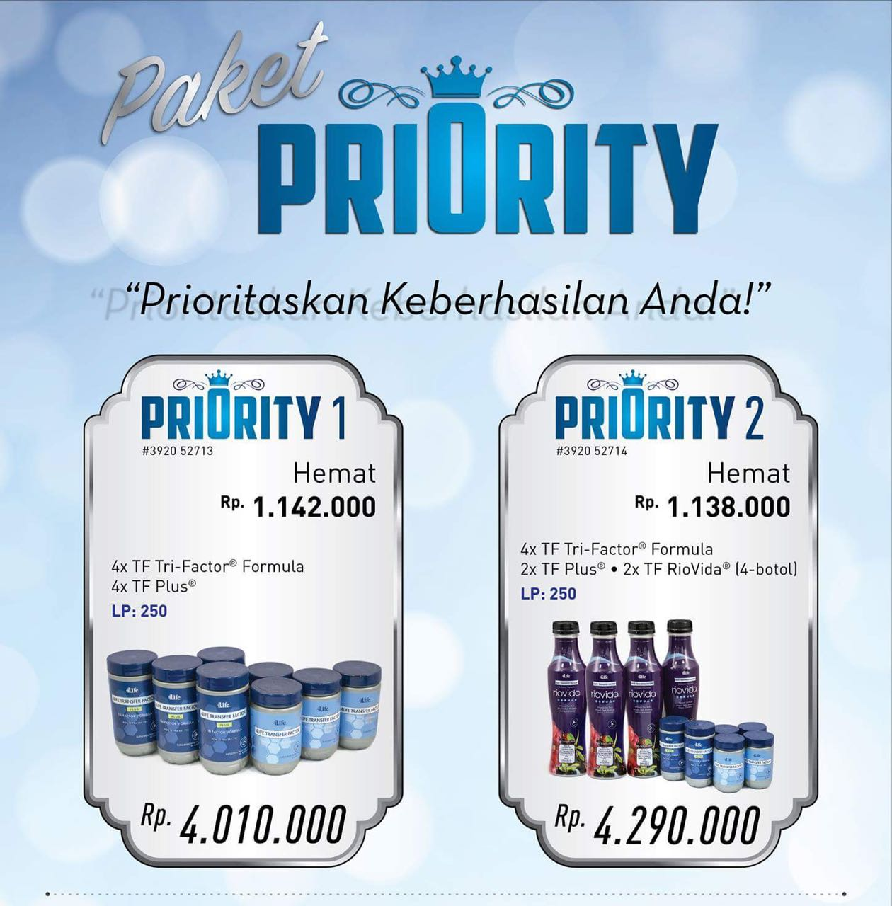 paket priority club 250