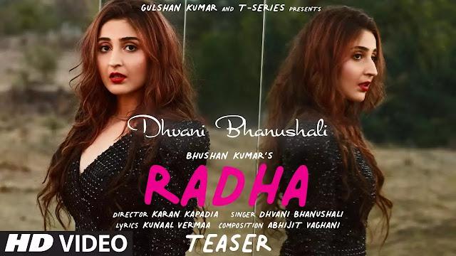 Radha - ( Mp3 Song Download ) - Dhvani Bhanushali - ( Full Lyrics )