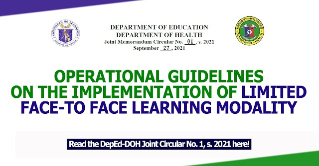 OPERATIONAL GUIDELINES ON THE IMPLEMENTATION OF LIMITED FACE-TO FACE LEARNING MODALITY
