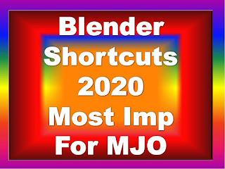 Blender Shortcuts