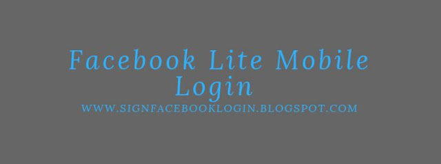 Facebook Lite Login Mobile