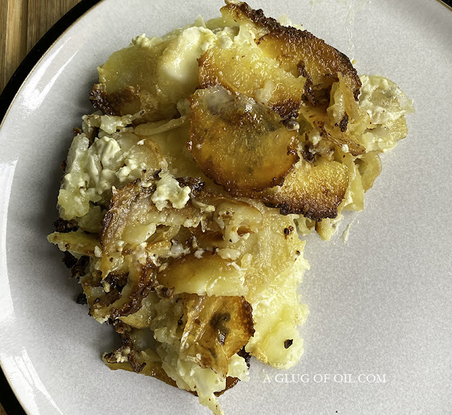 Dauphinoise Potatoes on a plate