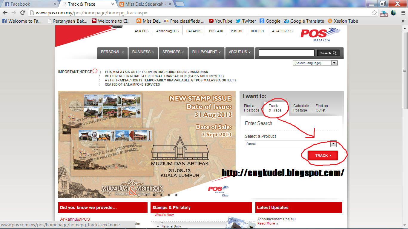 how to check my poslaju tracking number