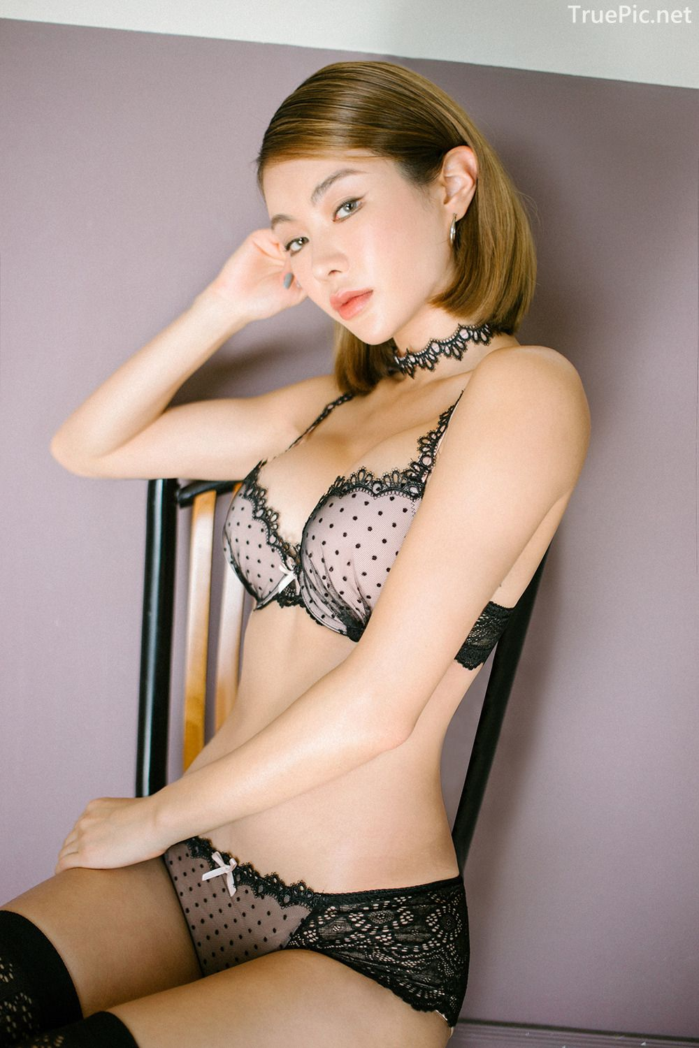Lingerie queen An Seo Rin - Choker Lingerie Set - Korean model fashion - Picture 9