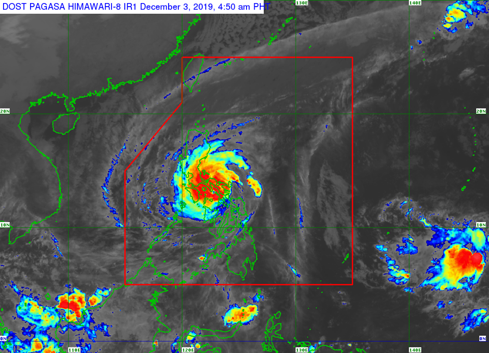 Satellite image of Typhoon Tisoy as of 4:50 am, December 3, 2019