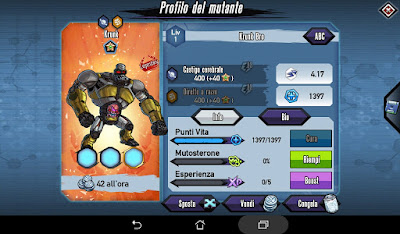Mutants: Genetic Gladiators Breeding video N°330 (Krunk - Alien)