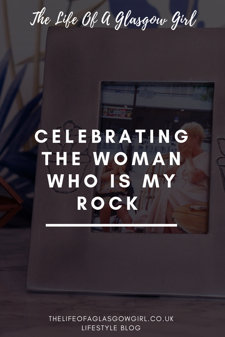 "Pinterest graphic for blog post ""Celebrating the woman who is my hero"" on thelifeofaglasgwgirl.co.uk"