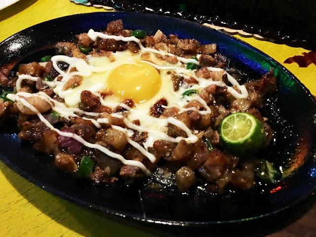 Pork Sisig Food Menu at Cafe Egao