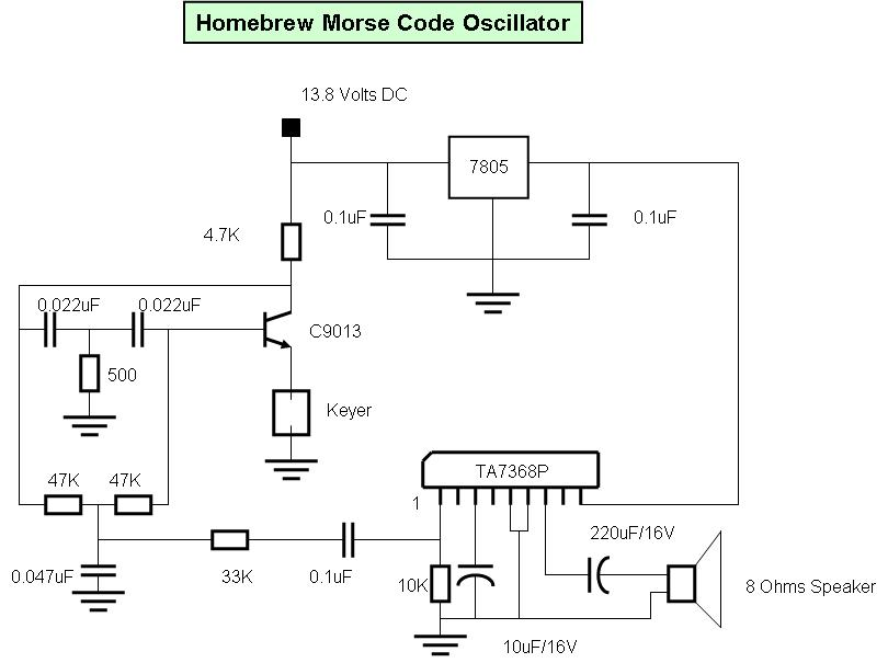 du1vss home brews: My Home made Morse Code Keyer and Oscillator