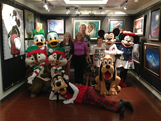 Group with MIckey, Minnie, Pluto, Goofy, Donald, Daisy, Chip and Dale