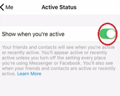 appear offline on Facebook messenger