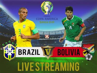 Live Brazil vs Bolivia Copa America 15.6.2019