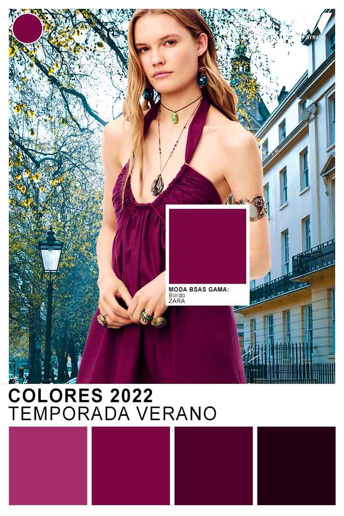 bordo y purpura colores de moda primavera verano 2022 vestidos
