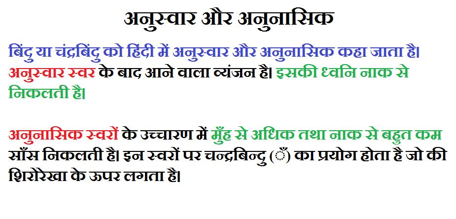 Anushwar और Anunasik