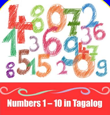 Tagalog Numbers 1-10 (Mga Bilang)