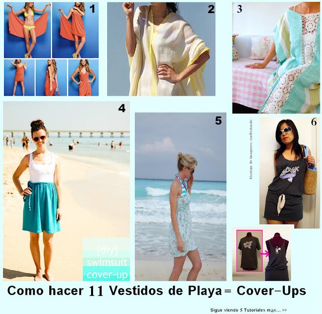 cover ups, vestidos playa, pareos, playa, beach, tutoriales, costura