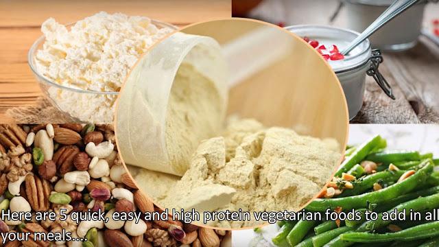 5 Best High Protein Vegetarian Foods