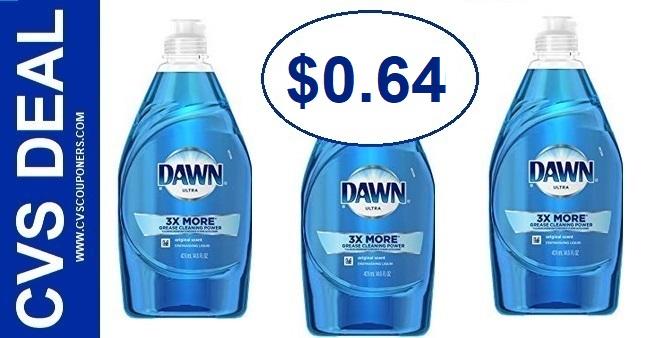 Dawn Dish Soap CVS Deal $0.64 2-23-2-29