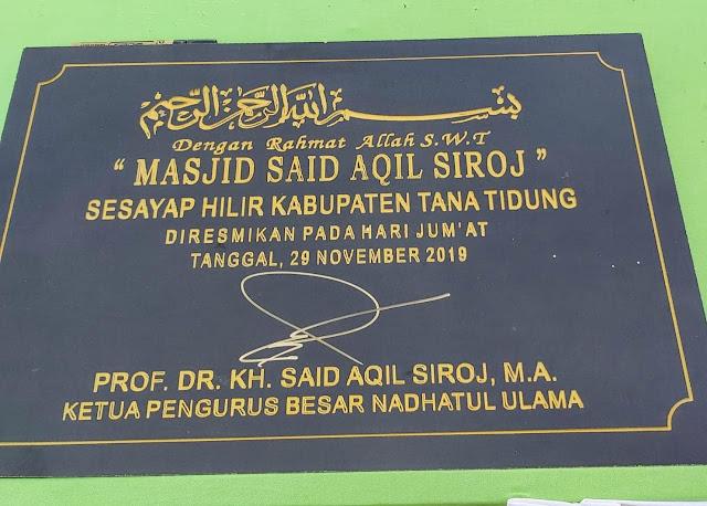 Peletakan Batu Pertama 'Masjid Said Aqil Siroj' di Kalimantan Timur