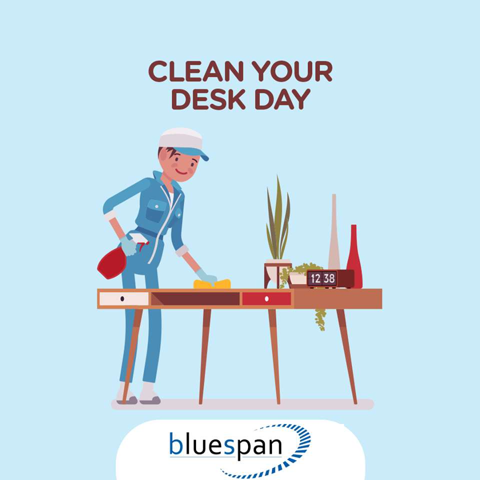 National Clean Your Desk Day Wishes for Instagram
