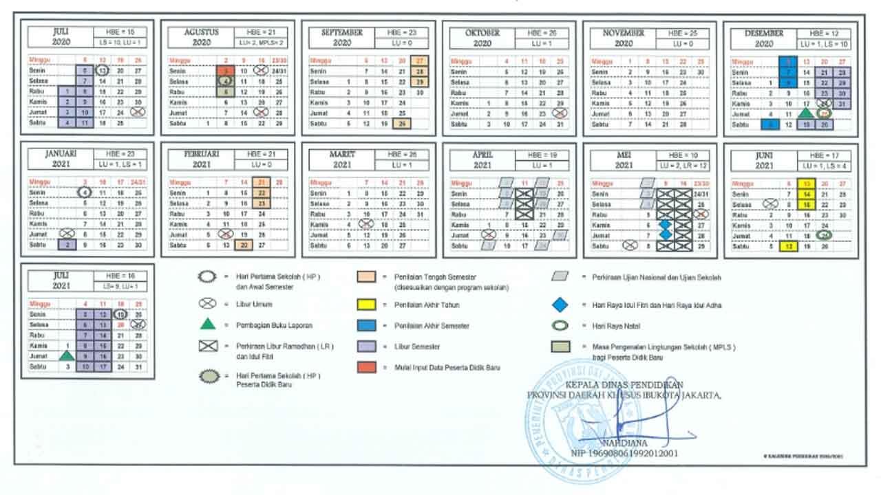 Cara Mendapatkan Kalender Pendidikan Tahun Ajaran 2020 ...
