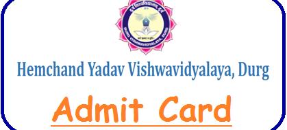 Hemchand Yadav University Admit Card 2020