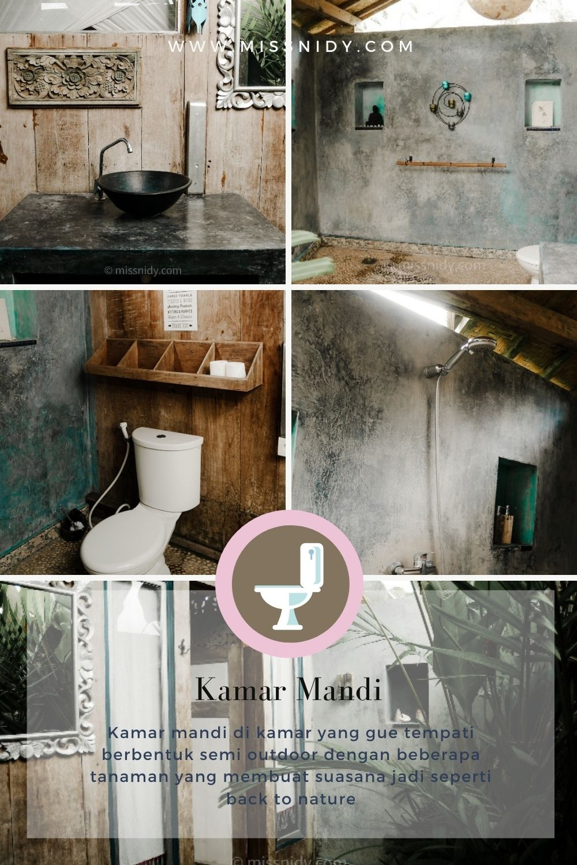 kamar mandi di hati padi cottage ubud