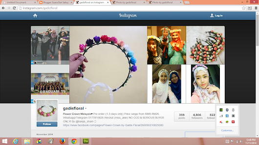 Flower Crown Malaysia by @gadisfloral