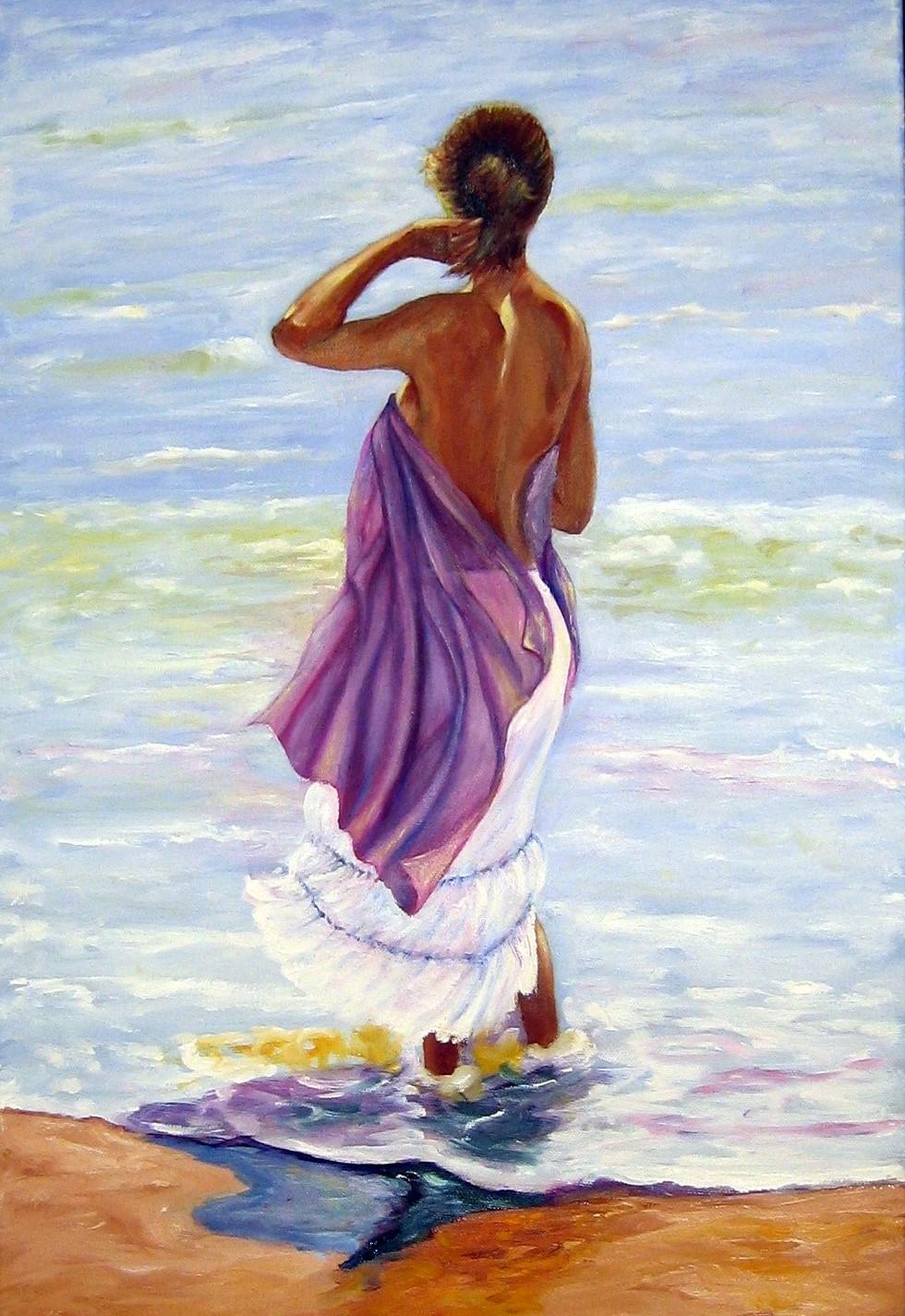 Spacio D Mónica Mujer Mirando El Mar De E Osuna