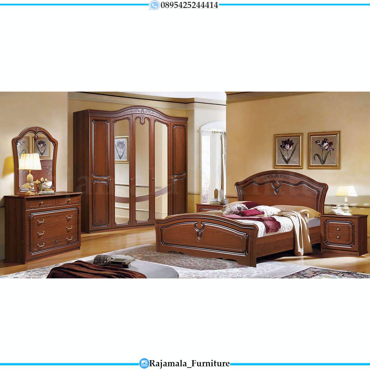 Harga Tempat Tidur Mewah Jati Natural Classic Elegant Color RM-0703