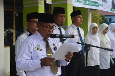 Kakankemenag Tanjungbalai Bacakan Sambutan Menteri Agama RI