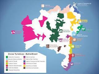 Mapa Turístico Brasileiro
