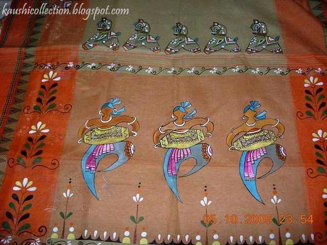 Sparkling Fashion: Fabric paintings, warli paintings on sarees
