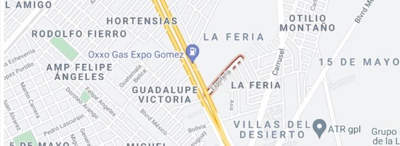 Mapa Expo Gomez Palacio