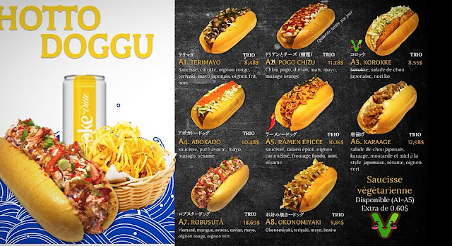Hotto Doggu hot dog japonais