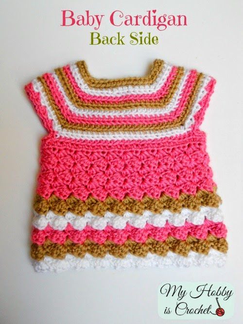 Stripes and Bubbles Baby Cardigan- Free Crochet Pattern