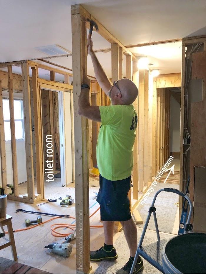 Hallway framed - working on door way