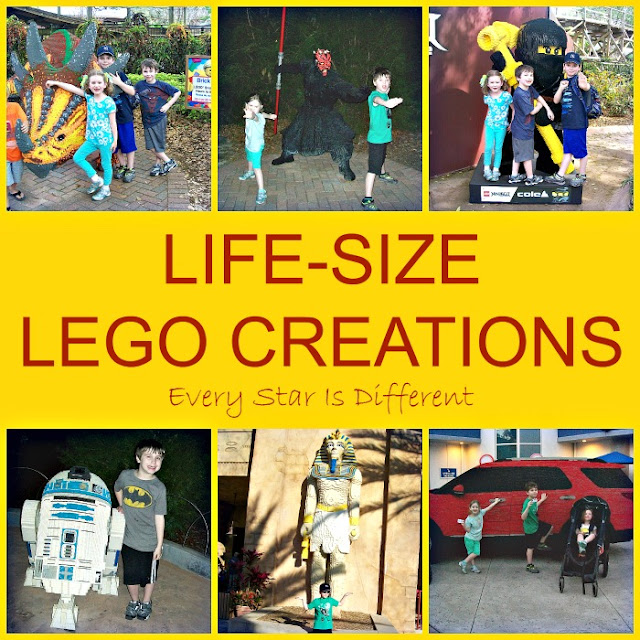 Life-size LEGO creations at LEGOLAND