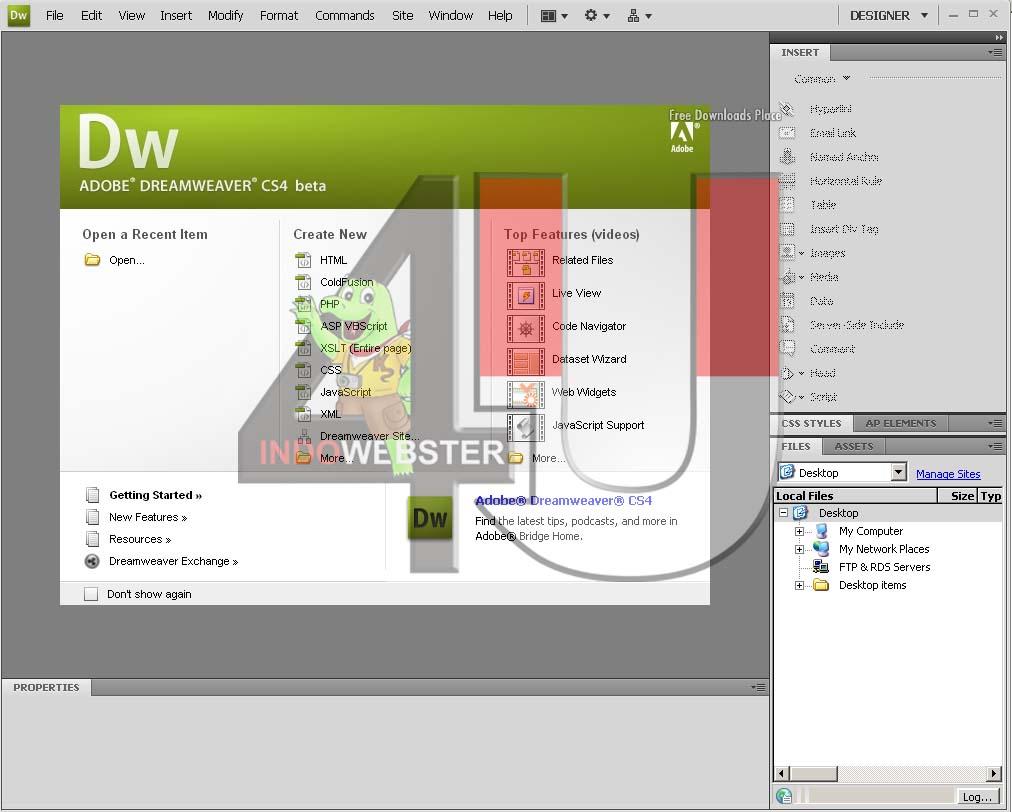 adobe dreamweaver cs4 free download for windows 7 64 bit