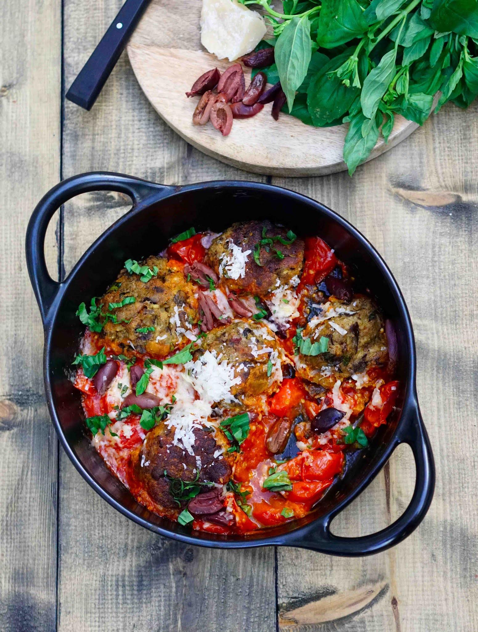 boulettes d'aubergines parmigiana