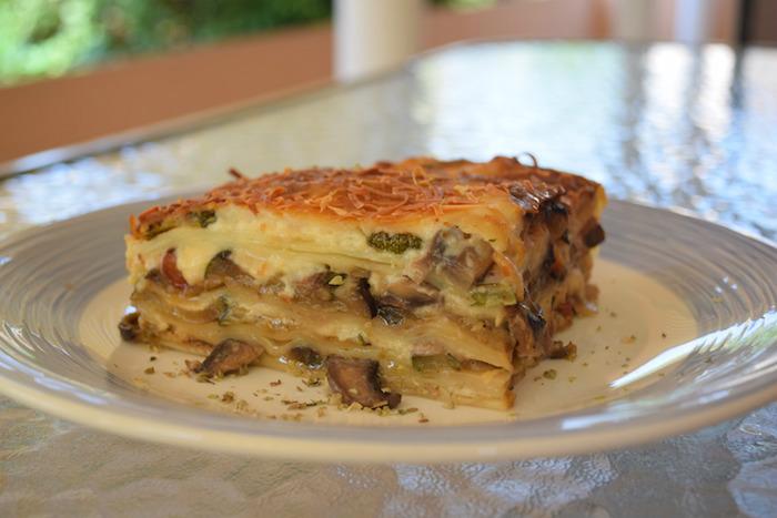 Receta de lasaña vegetariana de verduras fácil y rápida