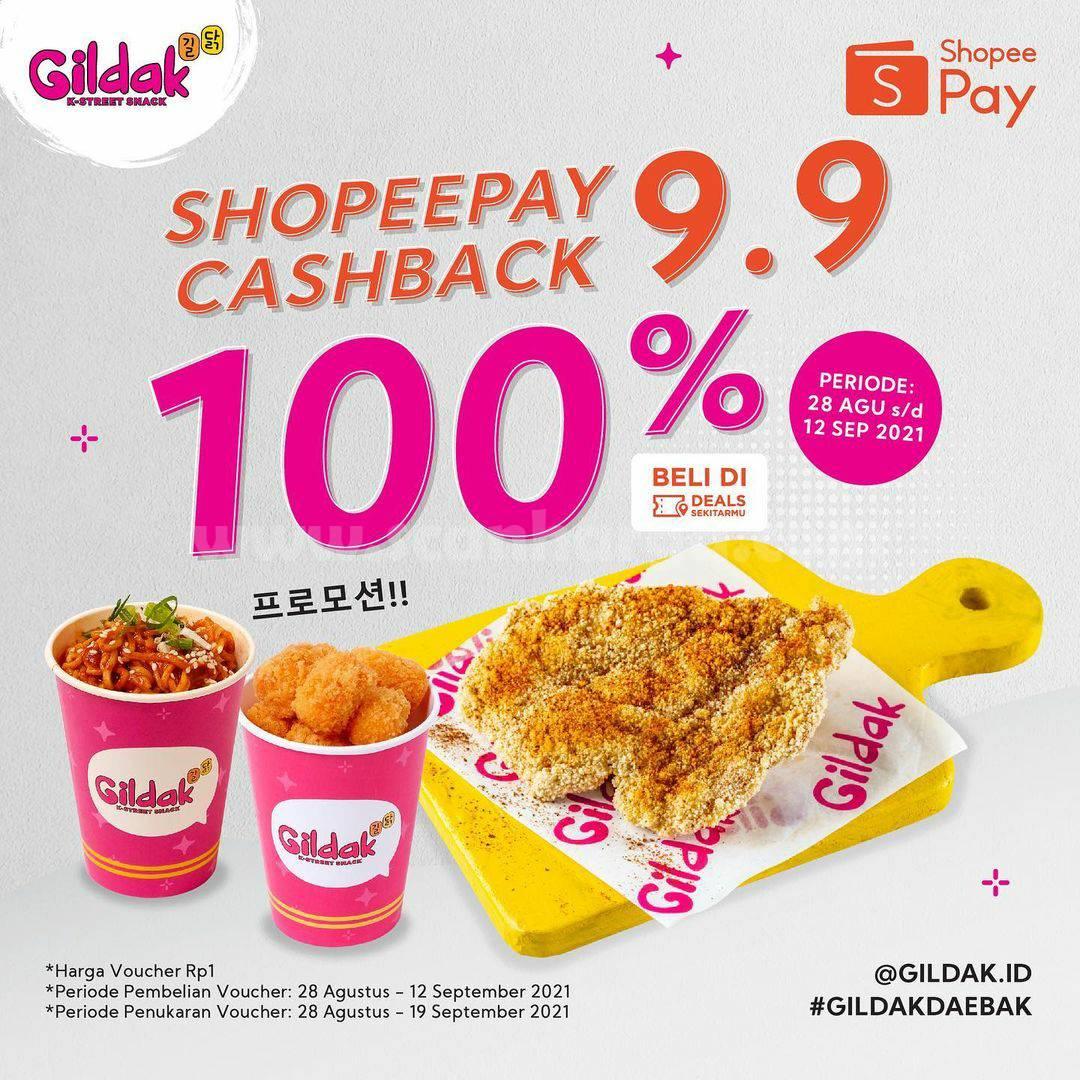 GILDAK Promo SHOPEEPAY 9.9 Cashback hingga 100%