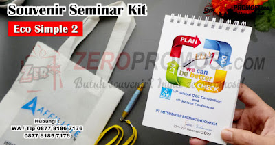 Produsen Paket Seminar Kit Eco Simple Promosi Custom Logo, Souvenir Seminar Kit Eco Ramah Lingkungan, Seminar Kit SK-ECO SIMPLE 2 Cetak logo
