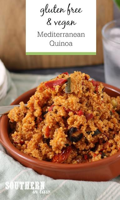 Easy Mediterranean Quinoa Recipe - gluten free, vegan, clean eating recipe, healthy