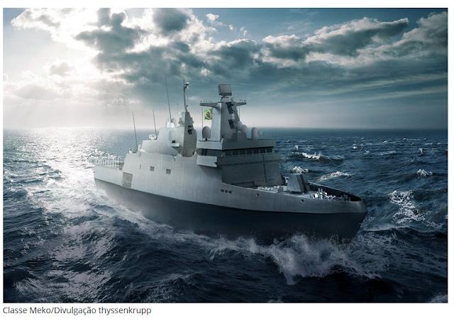 Construção da primeira fragata Tamandaré prevista para 2021
