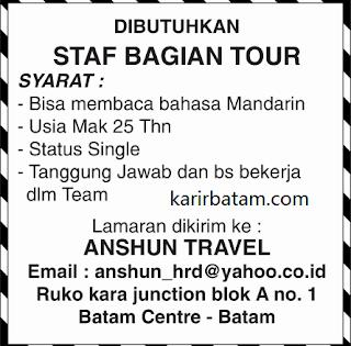 Lowongan Kerja PT. Anshun Travel Indonesia