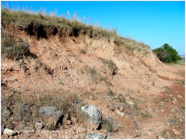 Suelo erosionado - Chacra Educativa Santa Lucía