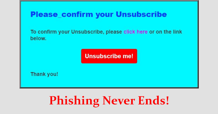 'unsubscribe' Spam Emails